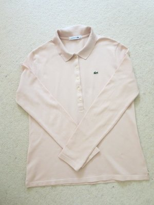 Lacoste Polo rose chair-rosé coton
