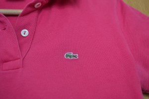 Lacoste Poloshirt in Himbeer pink Gr. 38