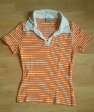 Lacoste Poloshirt in orange-weiß