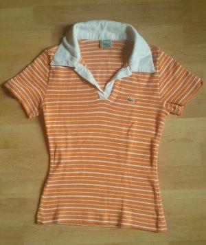 Lacoste Poloshirt in orange-weiß