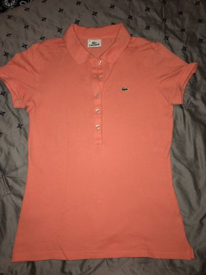 Lacoste Poloshirt neu korall Originalpreis 79€ Shirt T-shirt