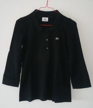 Lacoste Poloshirt schwarz Damen 3/4-arm Gr. XS/ S