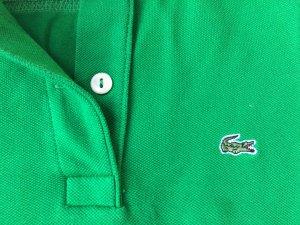 Lacoste Poloshirt tailliert Gras grün