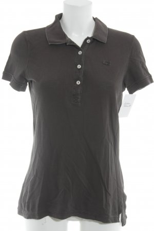 Lacoste Print-Shirt dunkelbraun sportlicher Stil
