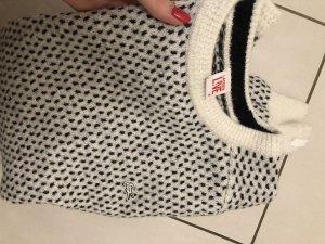 Lacoste Jersey de lana blanco-negro