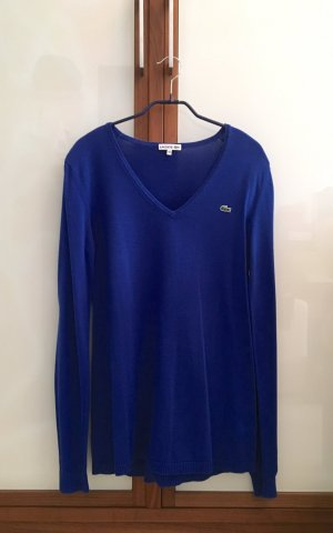 Lacoste Pullover, 100% Baumwolle, royalblau, fr. Größe 40, neuwertig