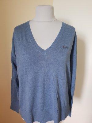 Lacoste Pullover Blau Melange Gr. 42/44 Neu mit Etikett