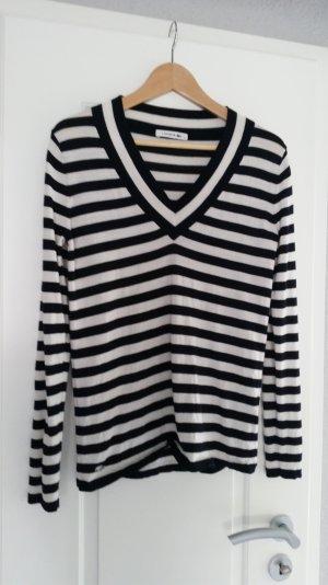 LACOSTE Pullover Original schwarz/weiß Gr. 40