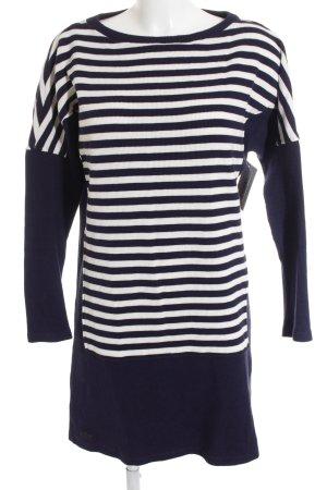 Lacoste Pulloverkleid dunkelblau-weiß Streifenmuster Marine-Look