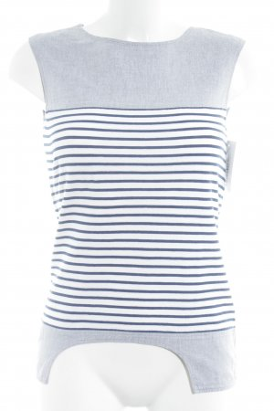 Lacoste Stripe Shirt white-pale blue color blocking casual look