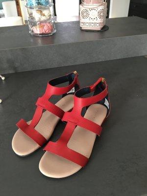 Lacoste Sandalen aus Leder, rot