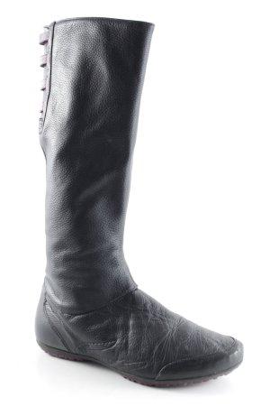 Lacoste Botas estilo militar negro Insertos de tela