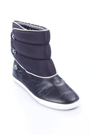 Lacoste Schlüpf-Stiefeletten schwarz-weiß Street-Fashion-Look