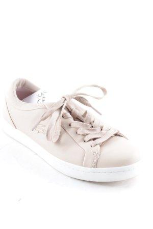 Lacoste Chaussures à lacets rose chair-blanc style décontracté