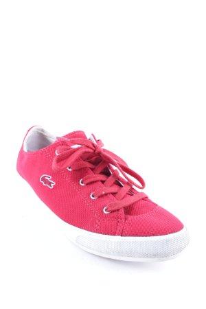 Lacoste Zapatos brogue rojo estilo deportivo