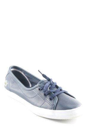 Lacoste Schnürschuhe weiß-dunkelblau Punktemuster Casual-Look