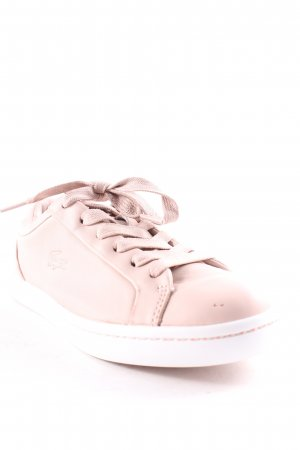 Lacoste Zapatilla brogue rosa empolvado-blanco look casual