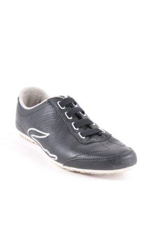 Lacoste Schnürsneaker schwarz-weiß sportlicher Stil