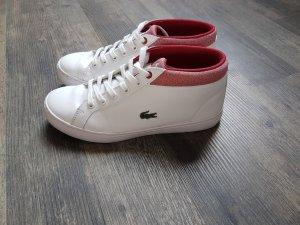 Lacoste Schuhe weiß rot