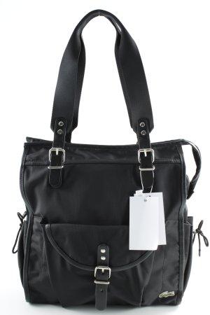 Lacoste Schultertasche schwarz-silberfarben schlichter Stil