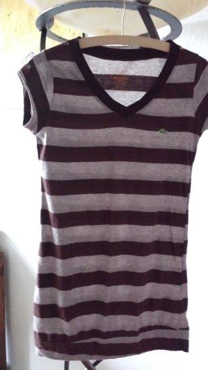 Lacoste Shirt Gr.4 / 36 braun Blockstreifen *1a*