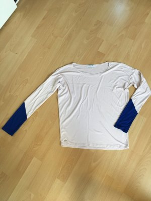 Lacoste Shirt rosa blau M 40 leicht glänzend neuwertig langärmlig
