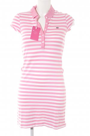 Lacoste Shirt Dress pink-white striped pattern casual look