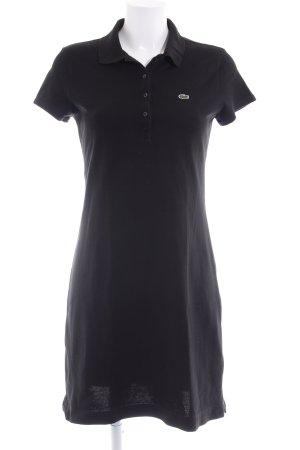 Lacoste Vestido estilo camisa negro look casual