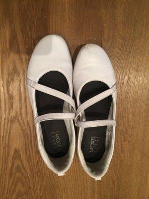 Lacoste Sneaker Ballerinas in weiß 40