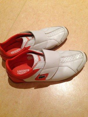 Lacoste Sneaker,weiß mit Orangen Akzenten,wir gr. 39