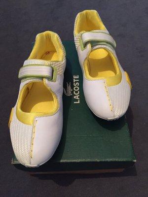 Lacoste Basket velcro blanc-jaune