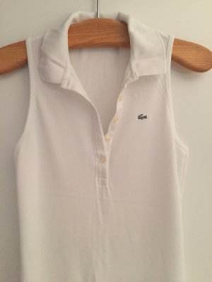 Lacoste Sommer Kleid 38 weiß lang Limited Edt.