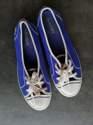 Lacoste Sommer Sneaker lila/weiß (39)