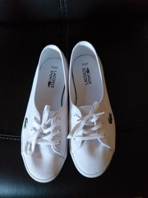 Lacoste Zapatos de marinero blanco