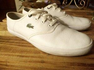 Lacoste Sport Sneaker Leder weiß