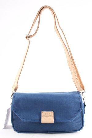 Lacoste Bolso de tela azul-beige look casual