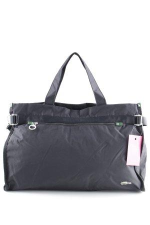 Lacoste Stofftasche schwarz-waldgrün Casual-Look