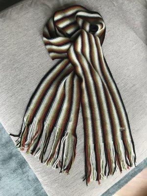 Lacoste Streifenschal aus 100% Wolle