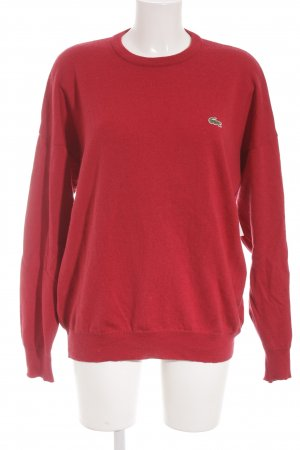 Lacoste Strickpullover rot Casual-Look