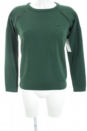 Lacoste Strickpullover waldgrün Casual-Look