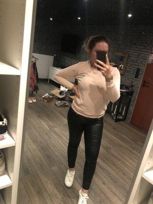 Lacoste Sweatshirt mit Glitzer rosa