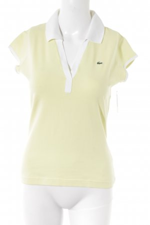 Lacoste T-Shirt blassgelb-weiß Casual-Look