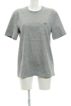 Lacoste T-Shirt hellgrau meliert Unisex-Artikel