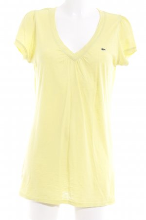 Lacoste T-Shirt limettengelb Casual-Look