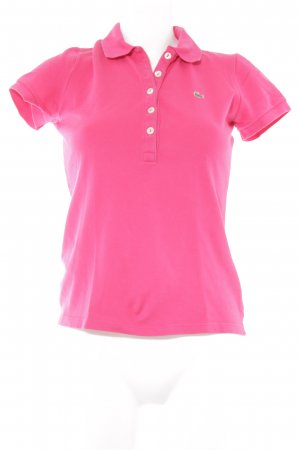 Lacoste T-Shirt pink-magenta Casual-Look