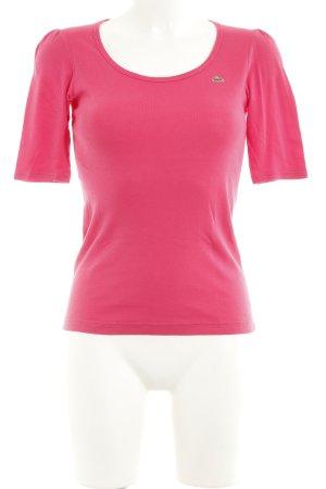 Lacoste T-Shirt pink schlichter Stil