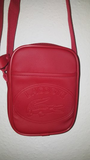 Lacoste Crossbody bag red imitation leather