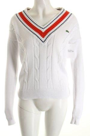 Lacoste V-Ausschnitt-Pullover mehrfarbig Casual-Look