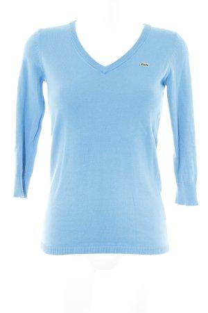 Lacoste V-Ausschnitt-Pullover neonblau Brit-Look