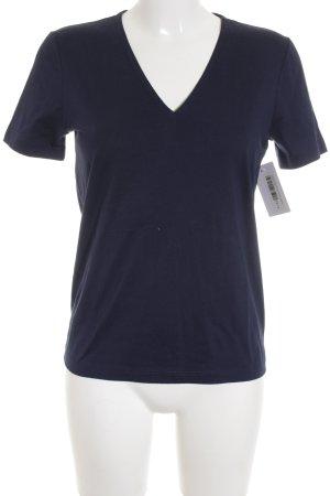 Lacoste V-Ausschnitt-Shirt dunkelblau Casual-Look